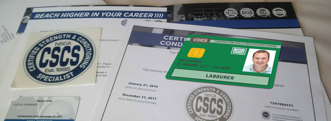 What is CSCS card Certification