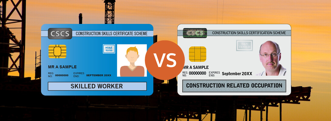 Blue Card Vs White CSCS Card for Construction Workers